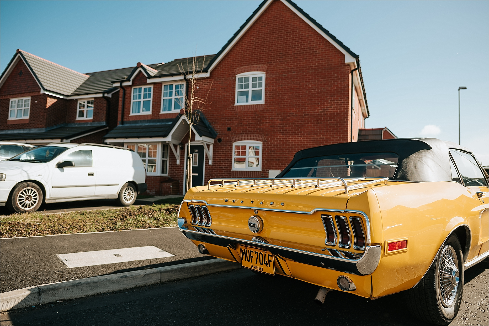 Yellow Ford Mustang by Ford mUSTANG WEDDINGS