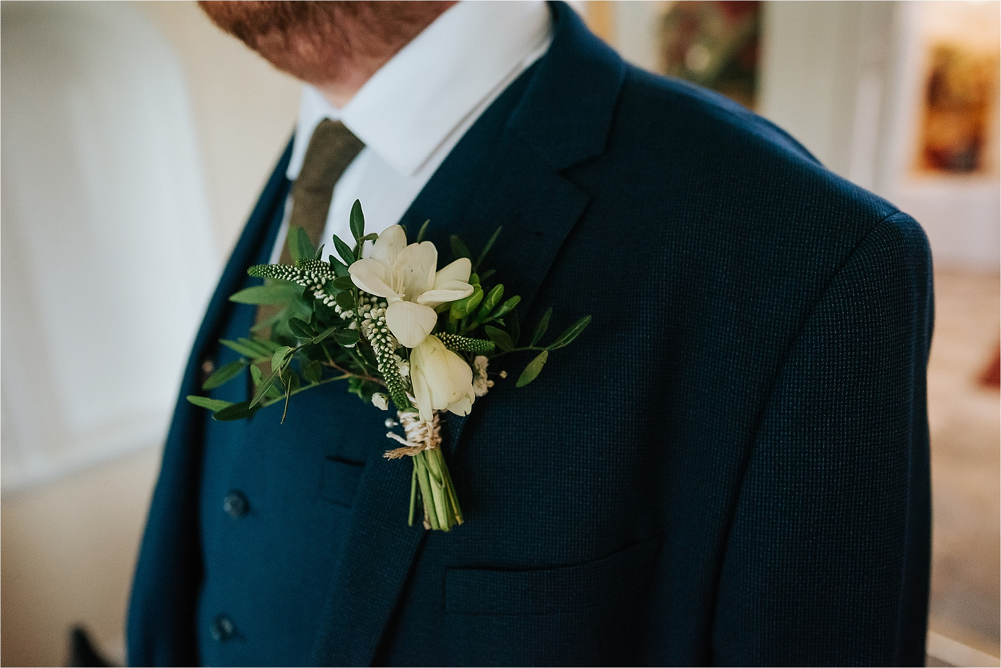 grooms buttonhole by the flower farm