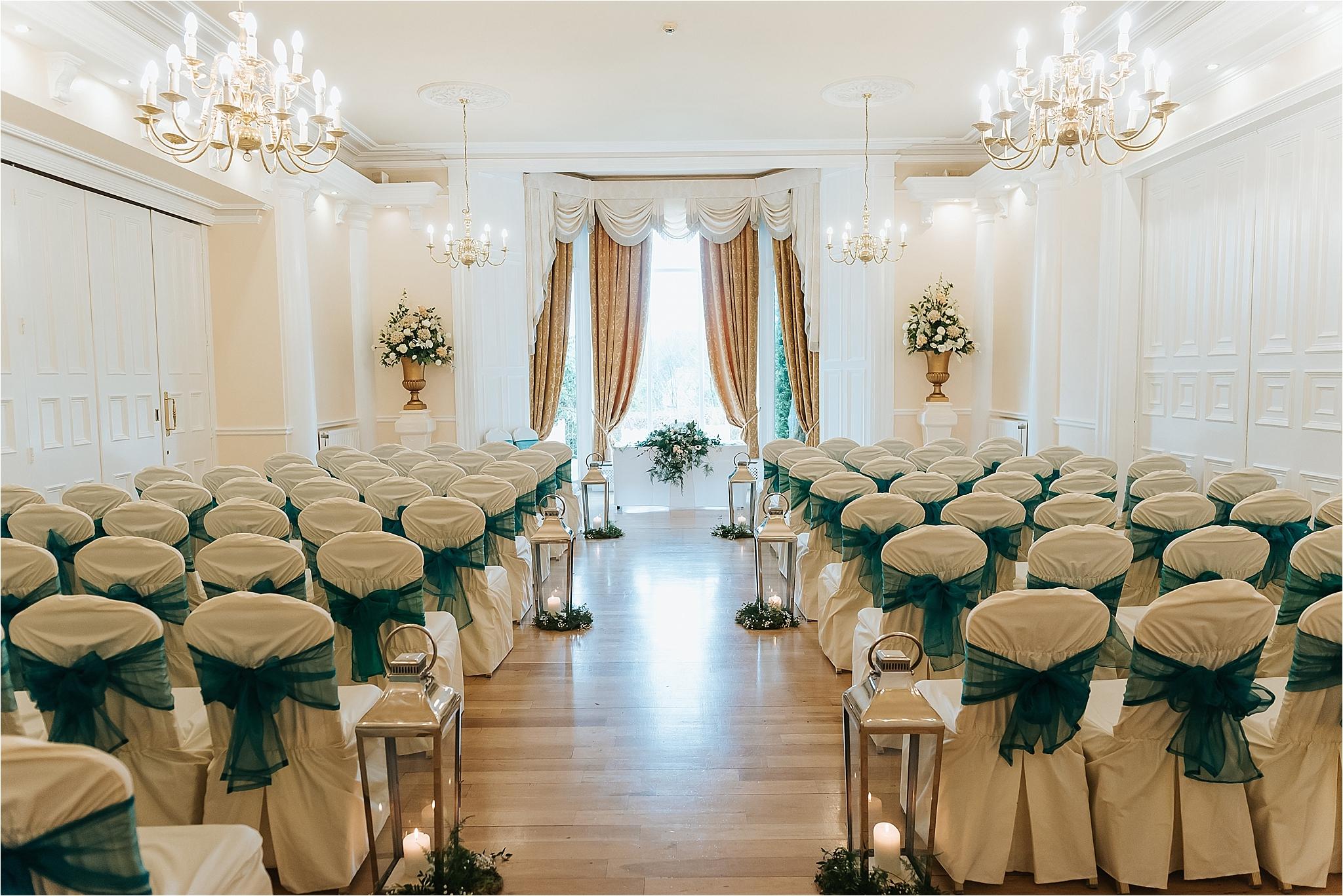 ceremony room set up for wedding at the grange hotel