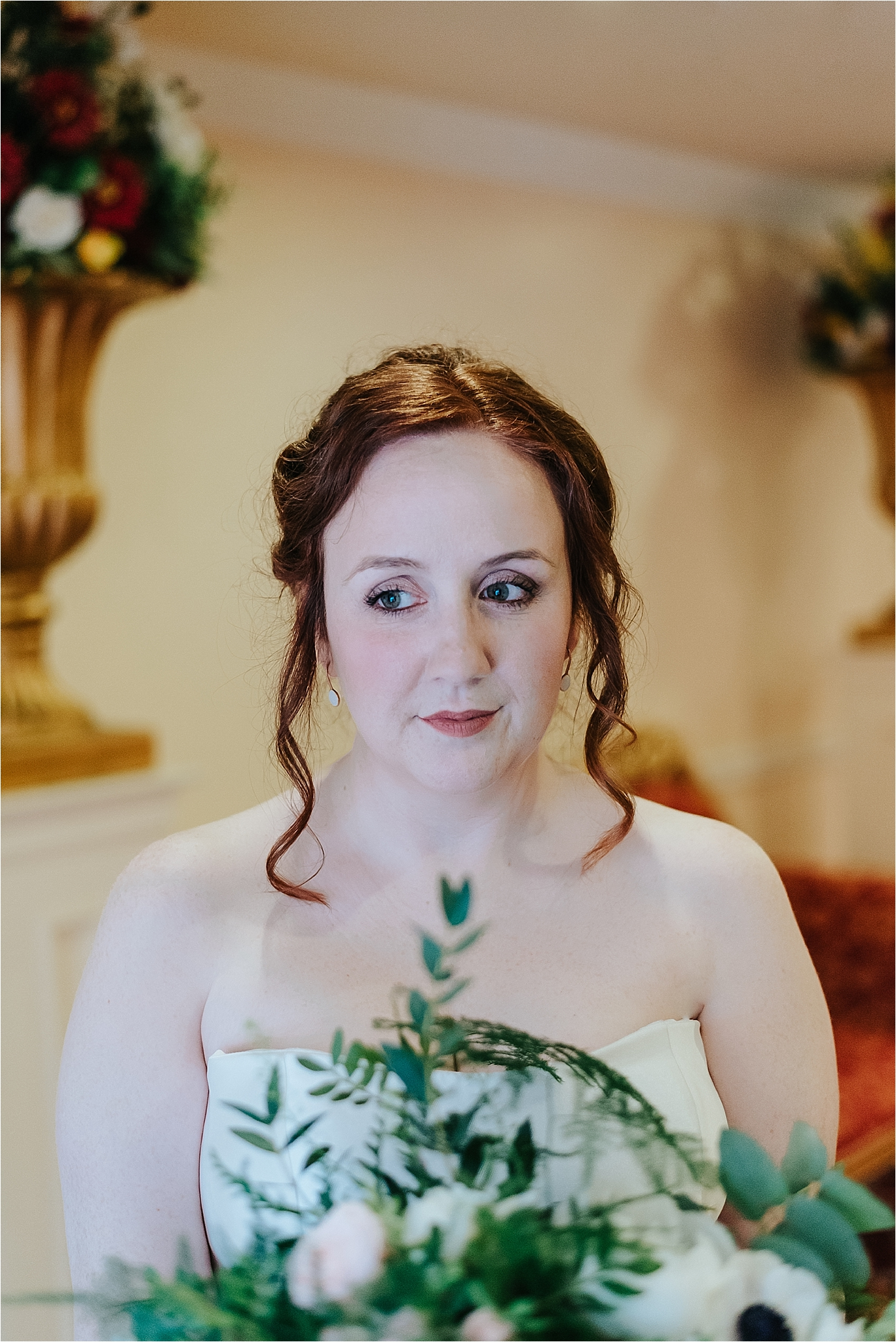 beautiful bride with red hair
