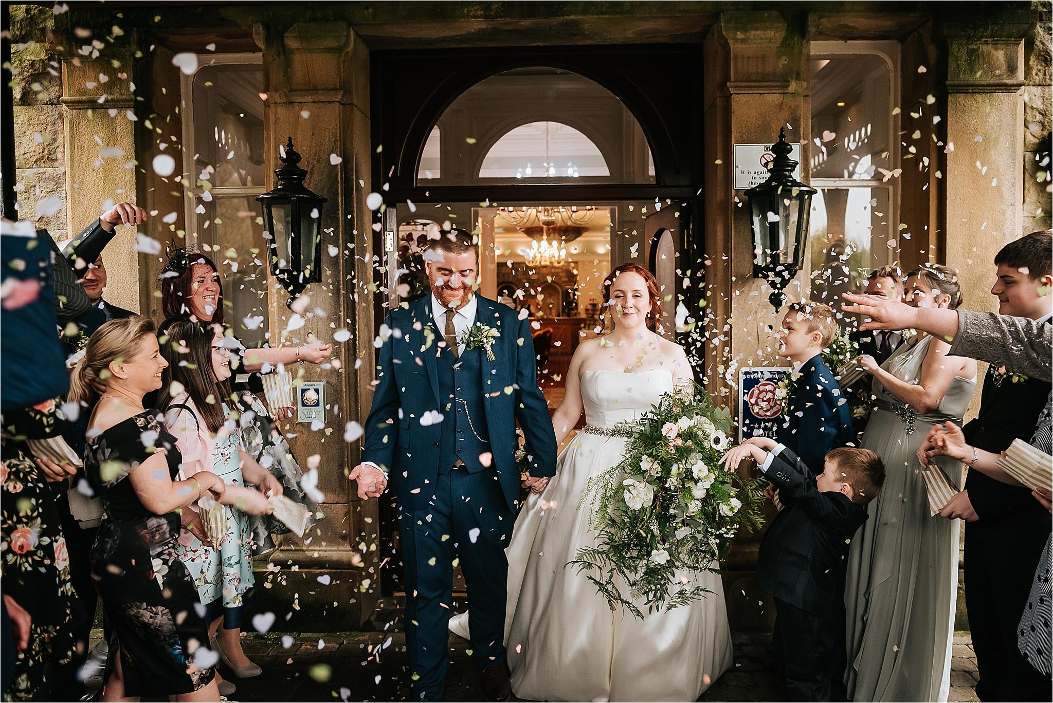 confetti photograph at the grange hotel