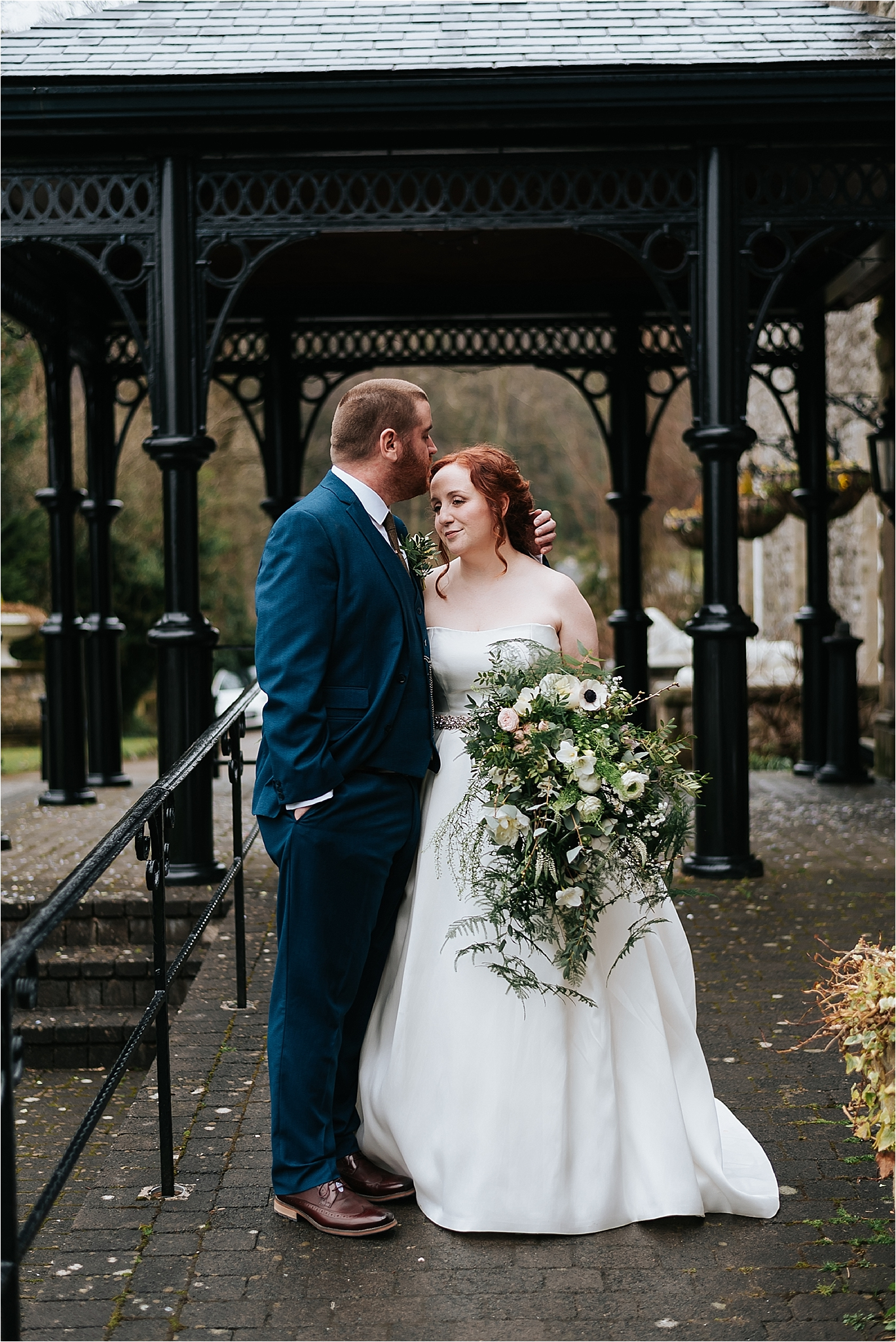 wedding portrait of bride and groom together