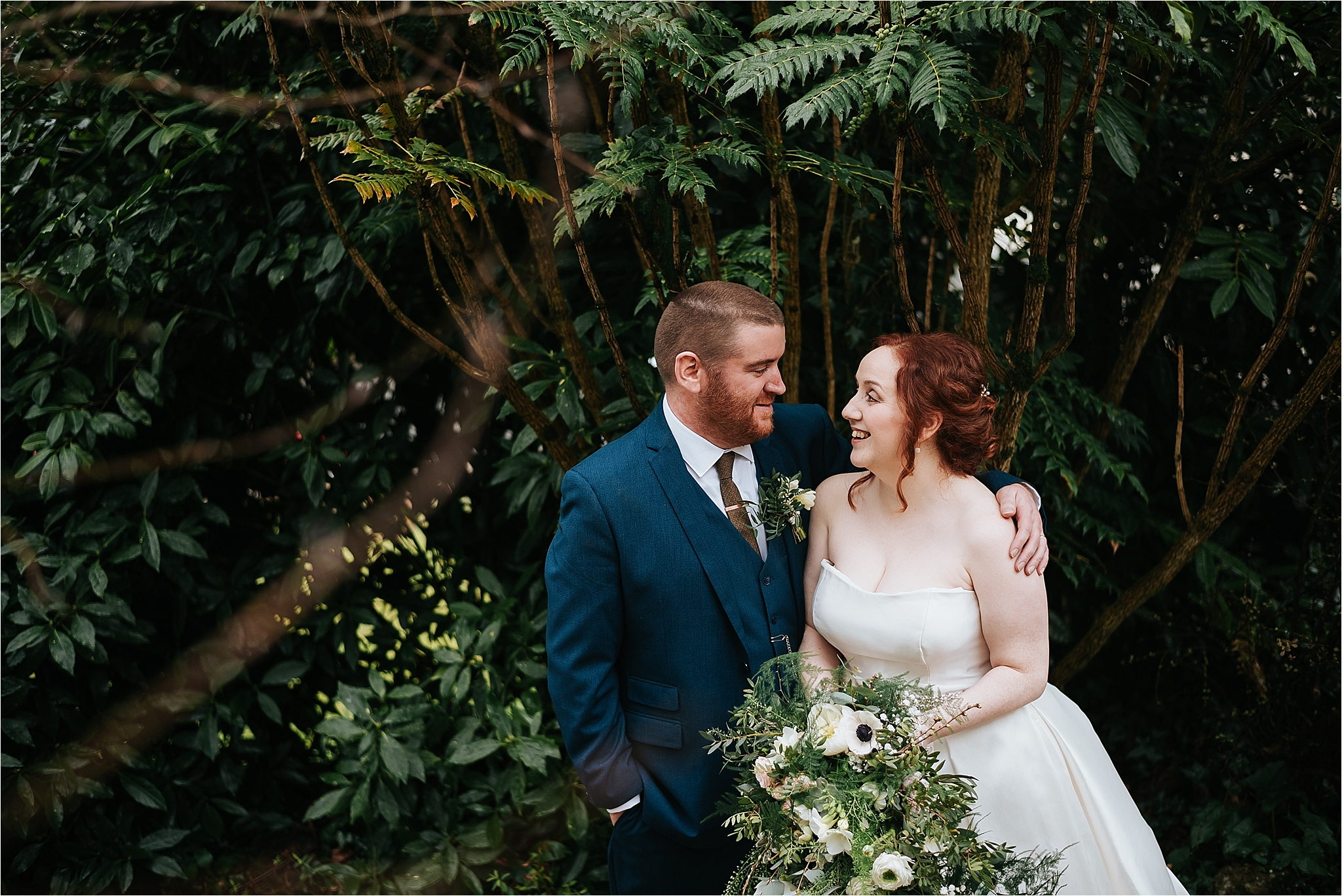 bride and groom at wedding at grange hotel