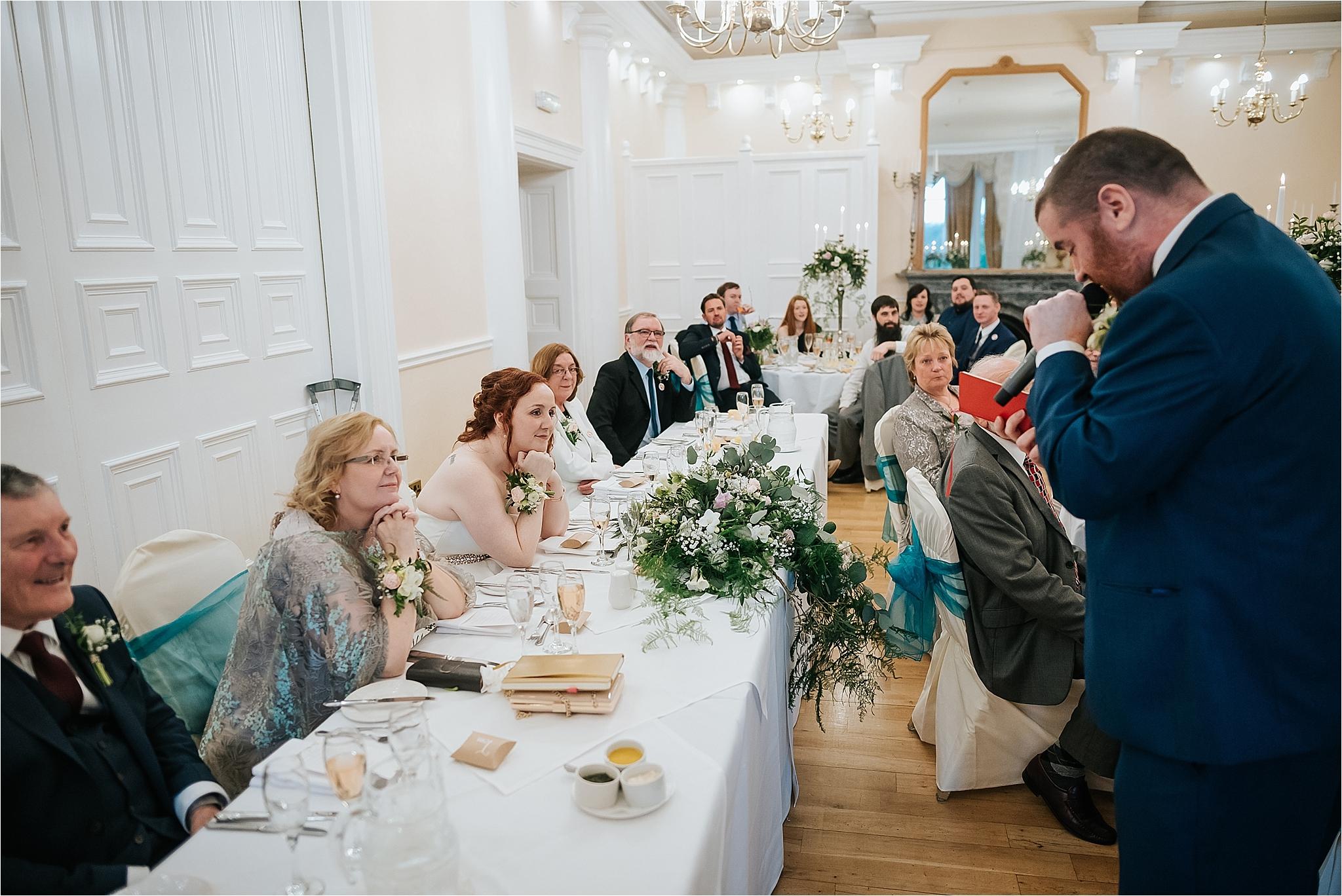 groom does wedding speech