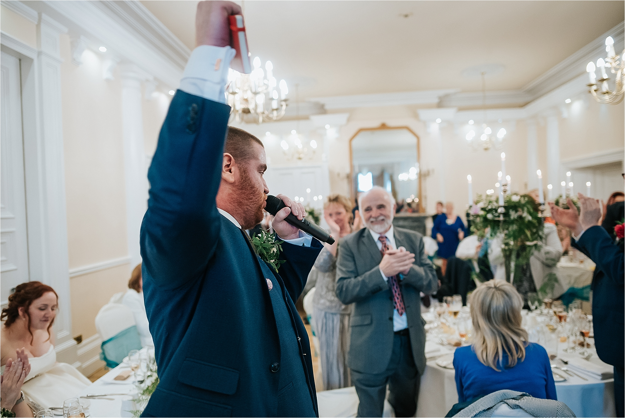 best man reads poem to new wife