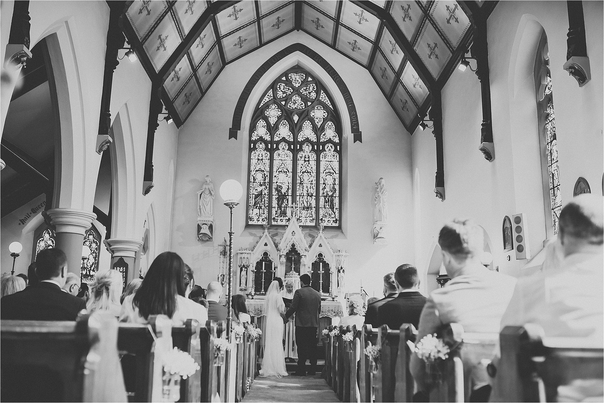 beautiful church wedding in scorton