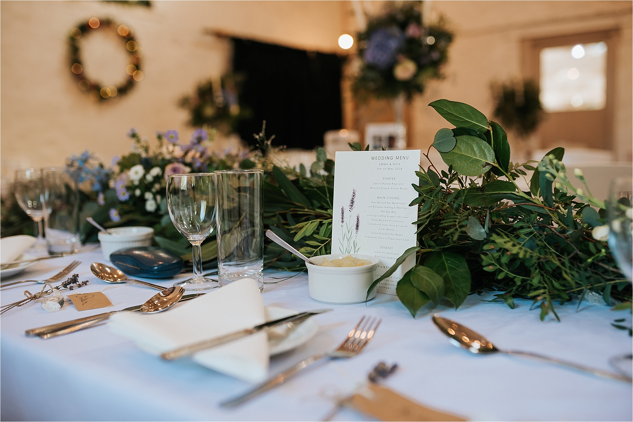 table setting at wyresdale park