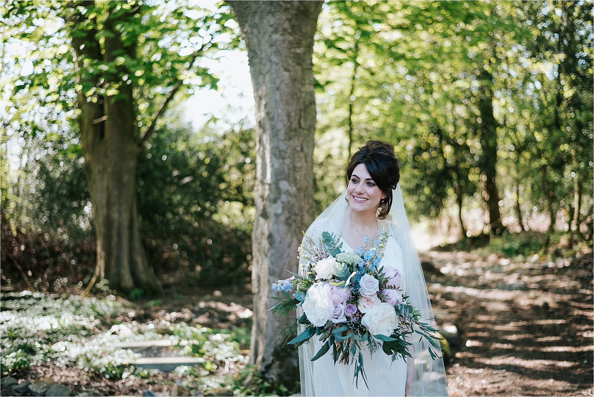 stunning bride in outdoor location