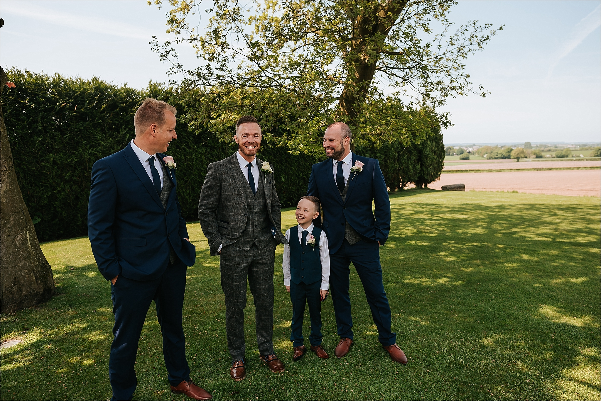 groomsmen at west tower ormskirk