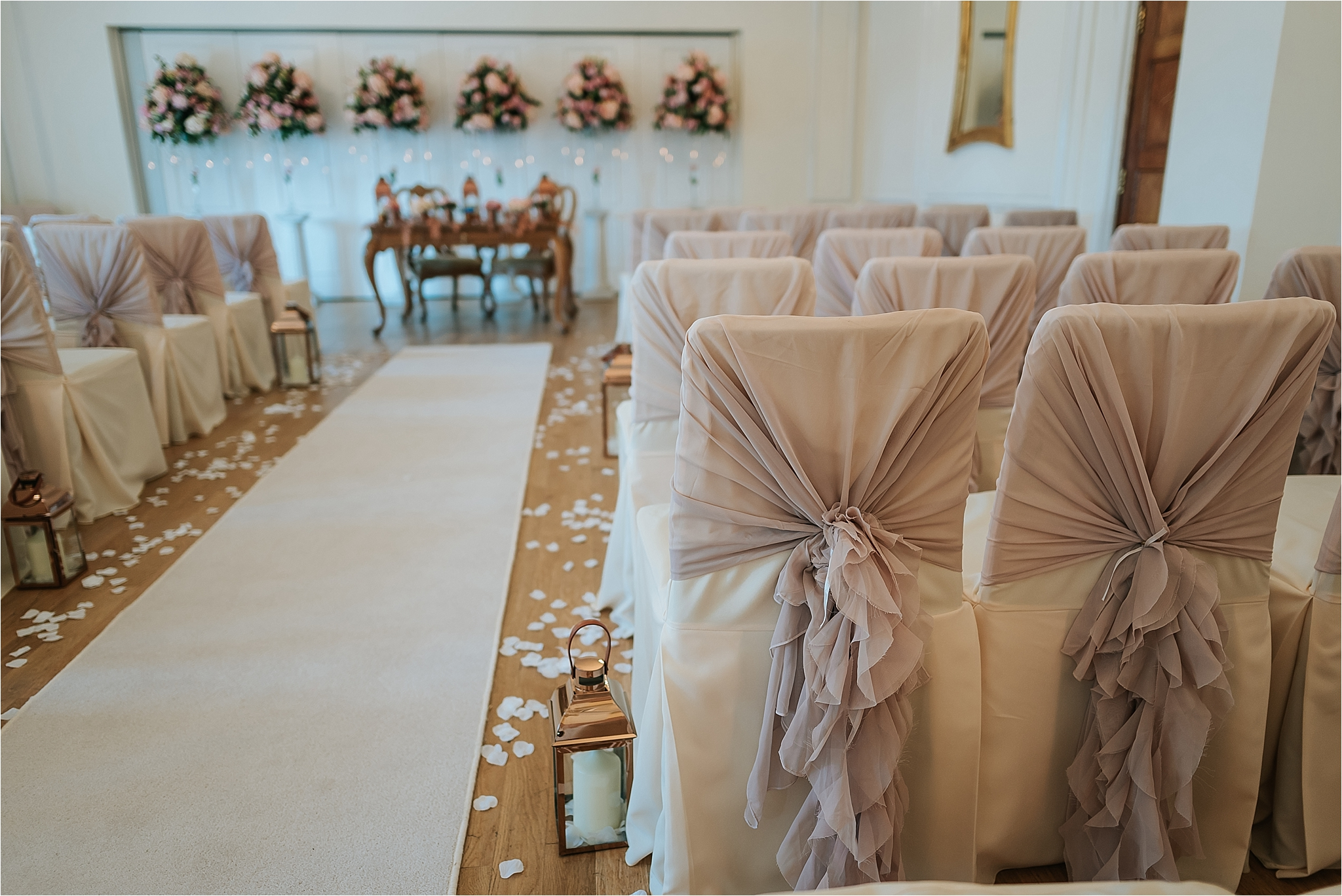 blush pink wedding at west tower ormskirk
