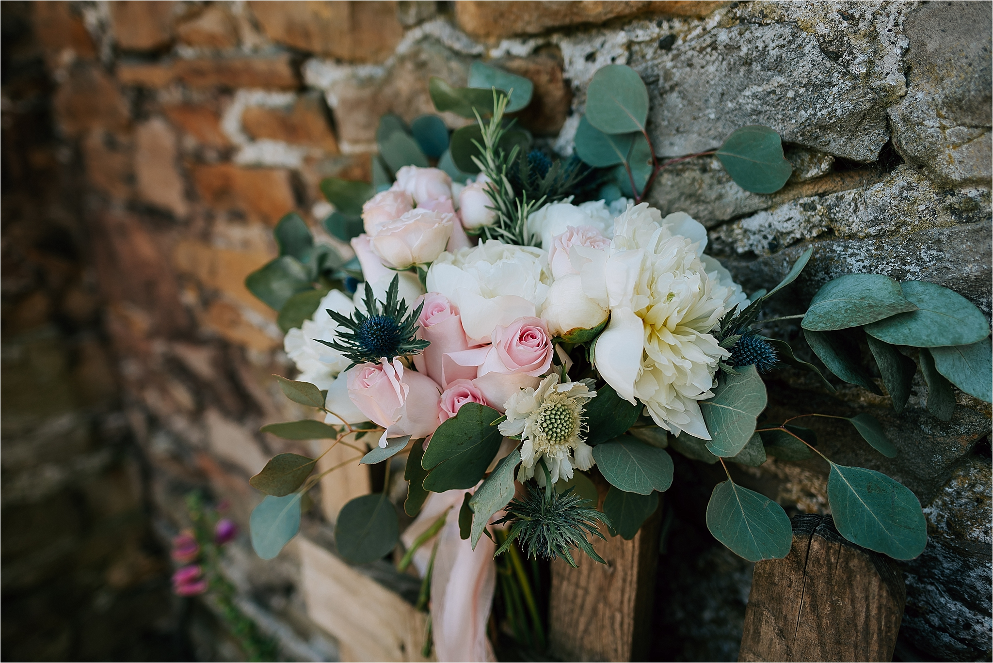 Blush tones wedding flowers by floral designs by kelly, clitheroe
