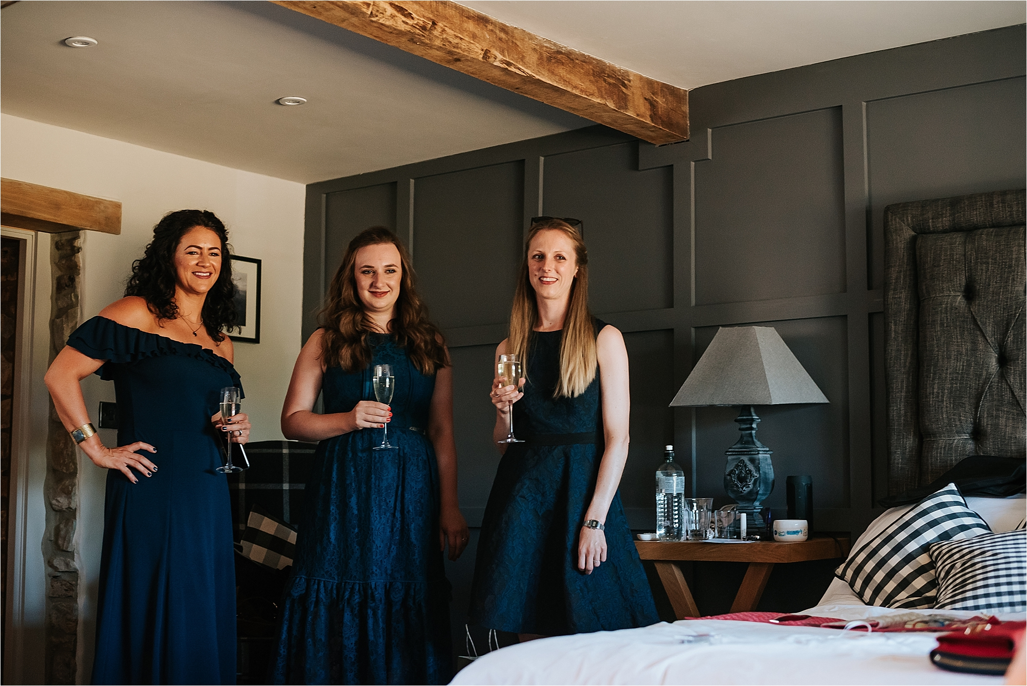Bridesmaids at the assheton arms in downham