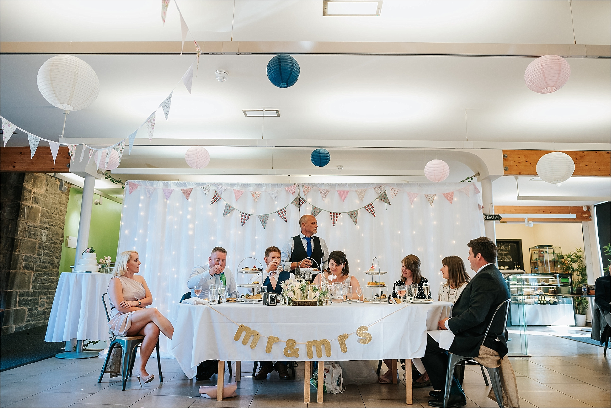 Father of the bride gives a speech at the atrium cafe in clitheroe