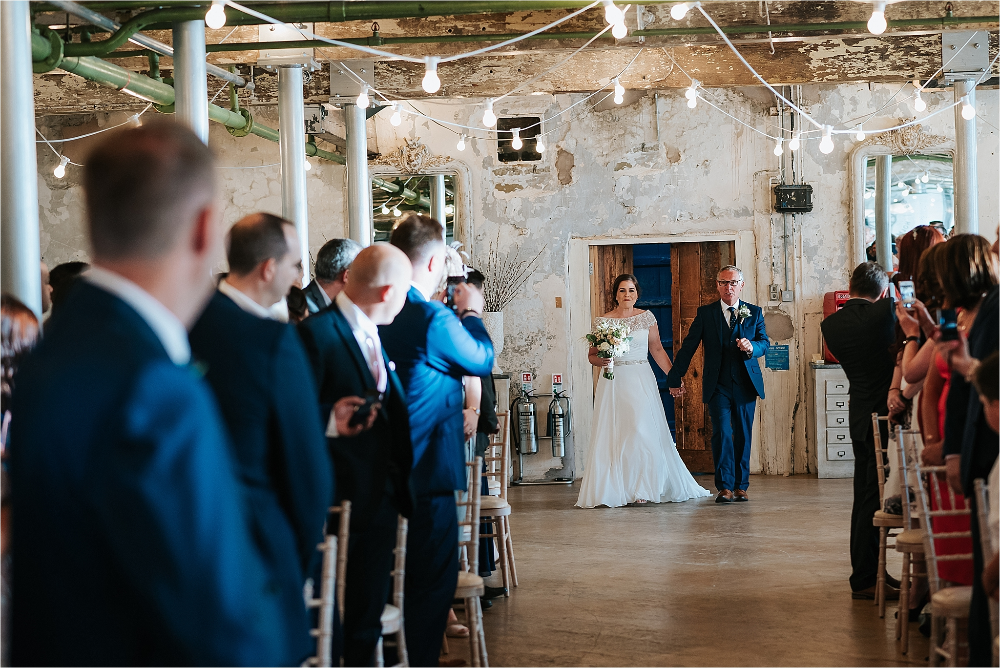Wedding ceremony room at holmes mill, clitheroe