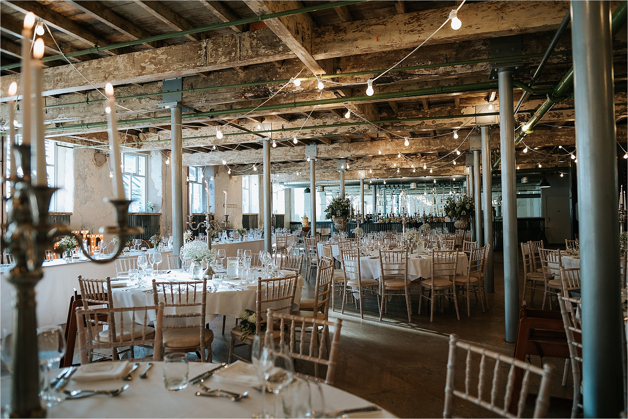 Holmes Mill set up for a wedding