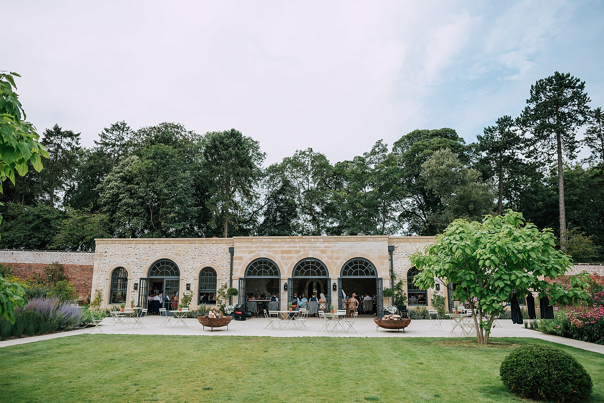 the outside of the beautiful fig house at middleton lodge
