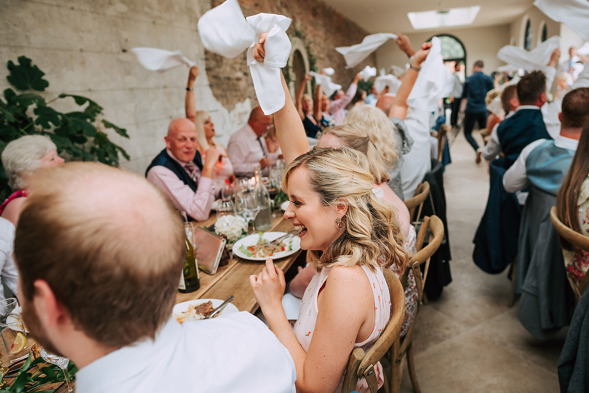 guests enjoying themselves at fig house wedding