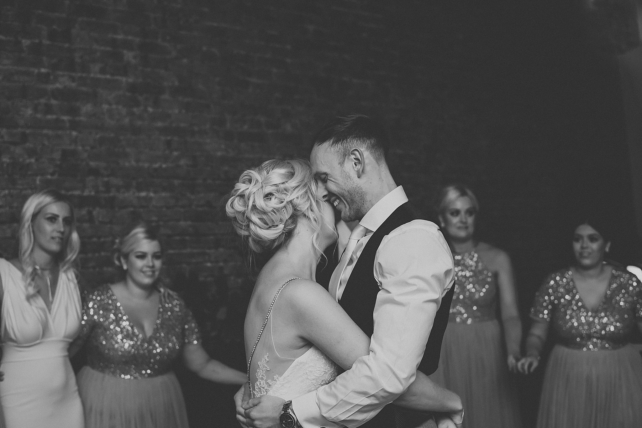 bride and groom dance at fig house wedding