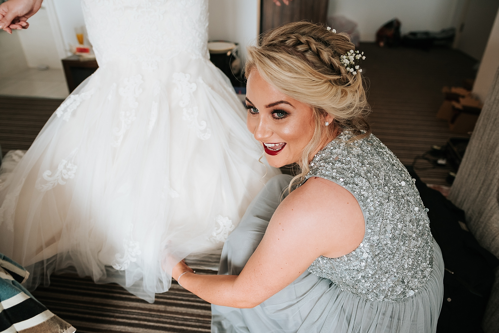 Before wedding at st annes palace, lancashire