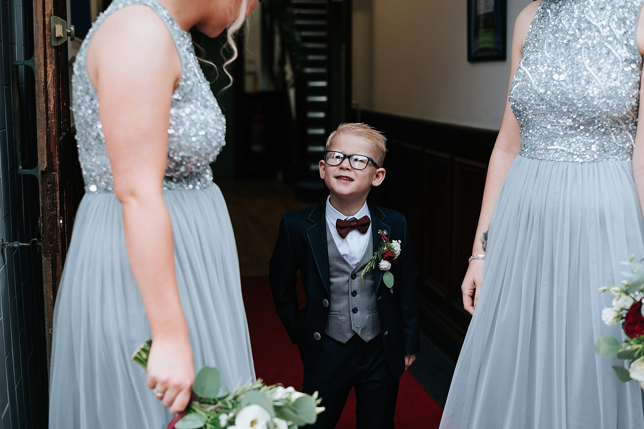 paige boy with bridesmaids
