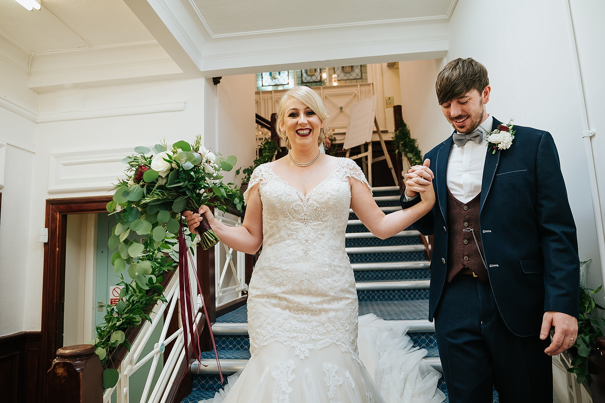 bride and groom at st annes palace