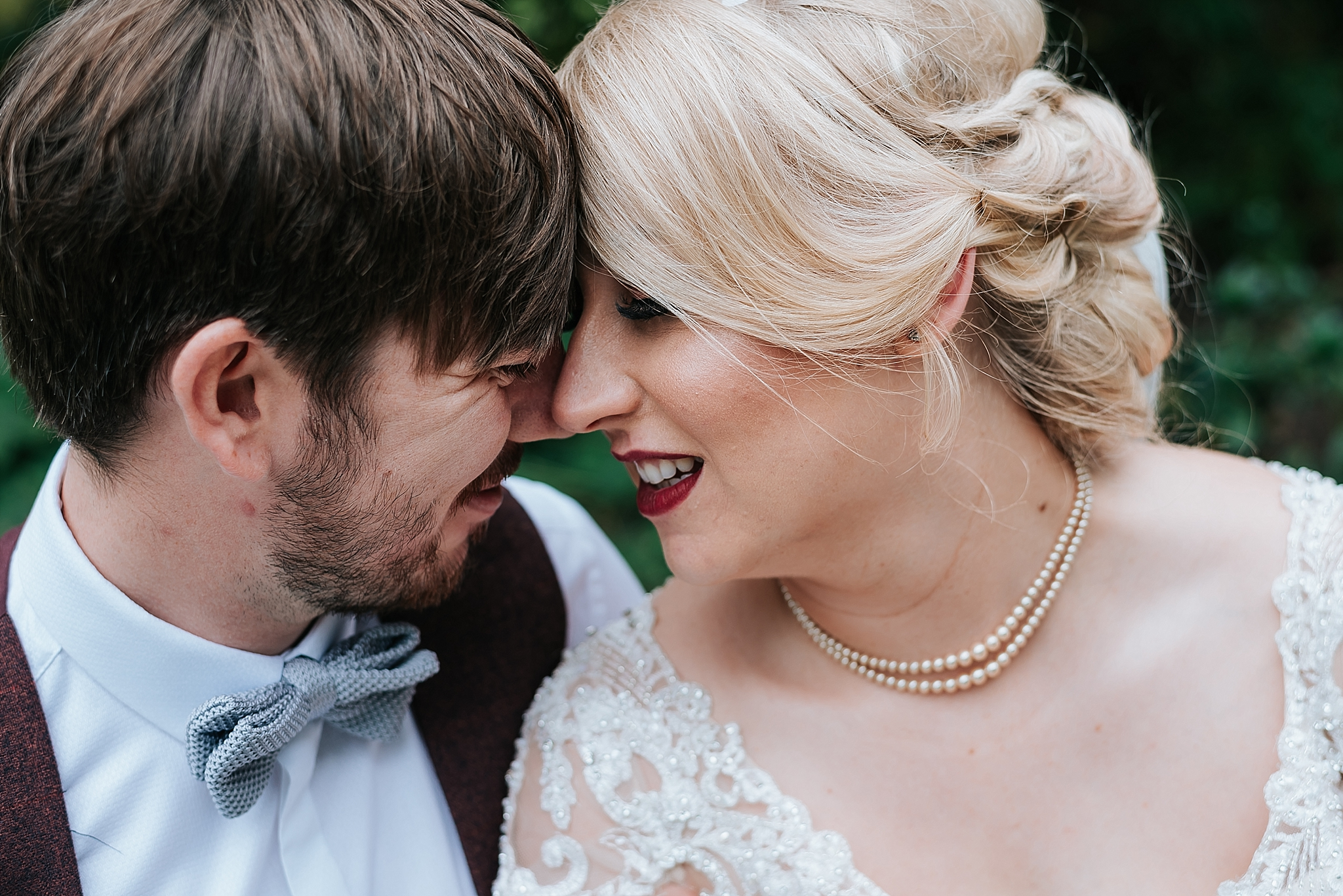 bride and groom portraits in ashton park