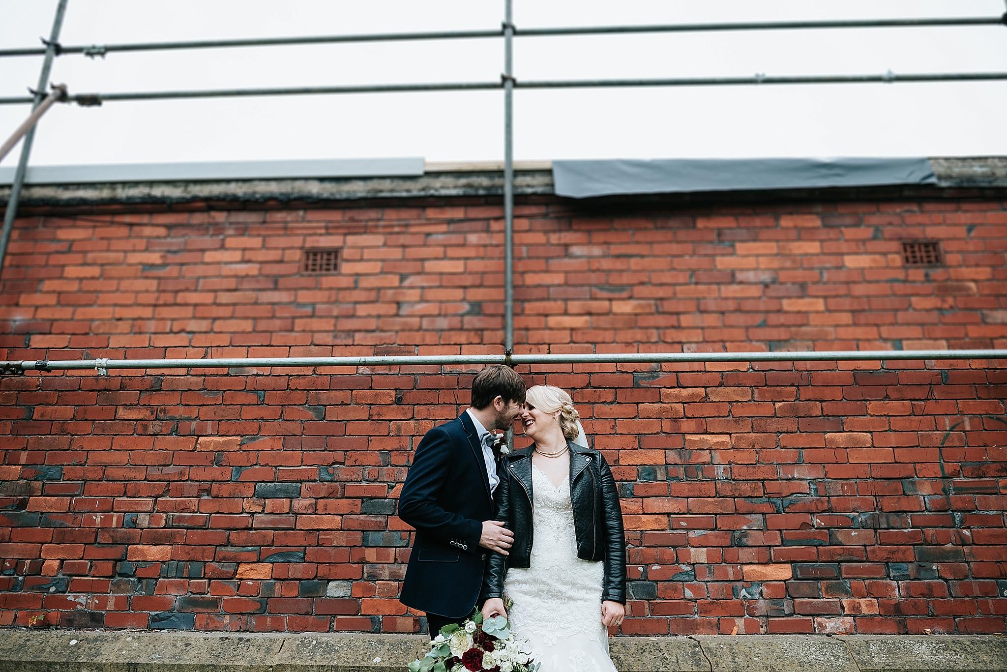 wedding couple in ashton park in lancashire