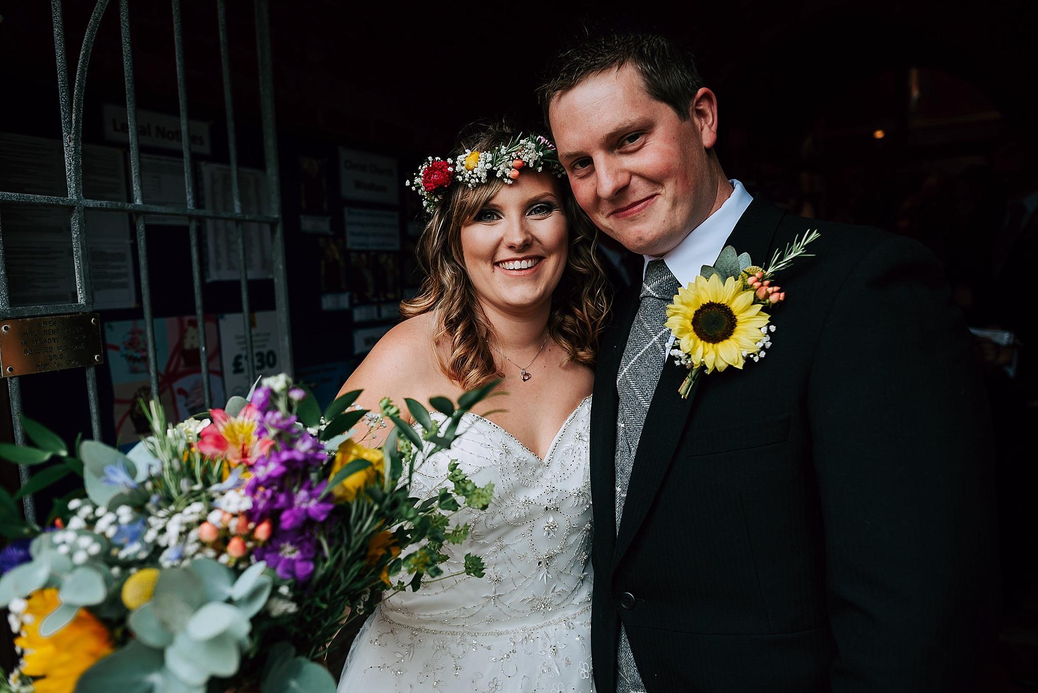 colourful wedding at ribby hall village on fylde coast