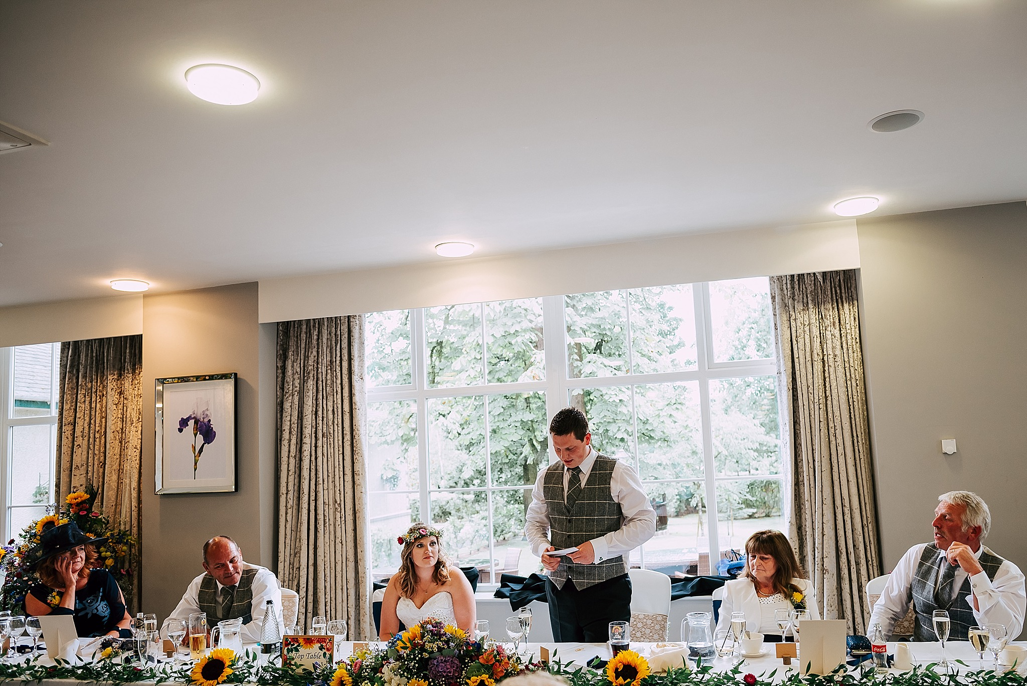 speeches in the garden room at ribby hall