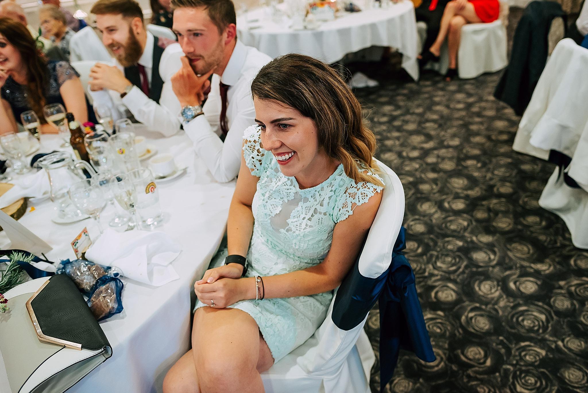 guest enjoying wedding at ribby hall