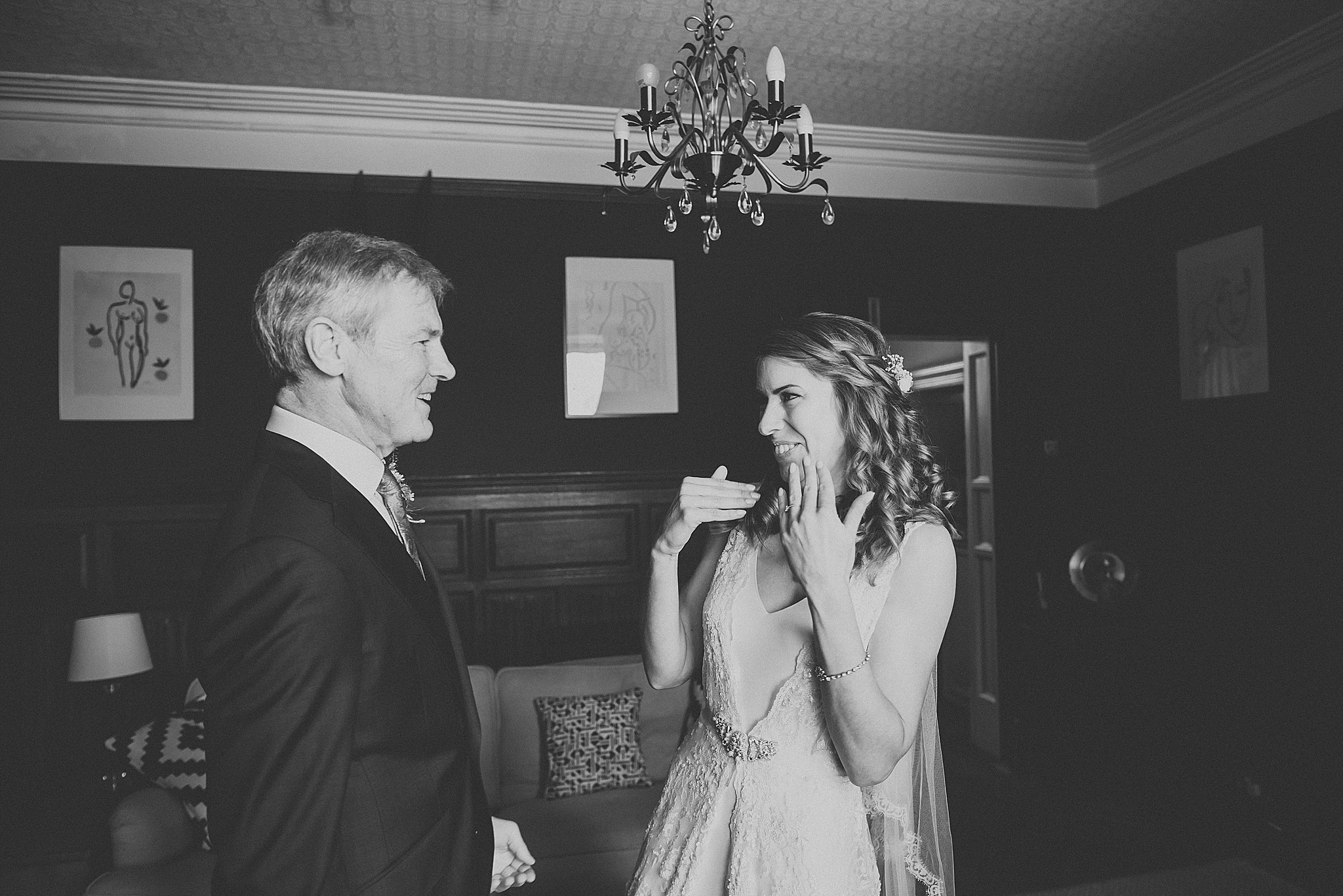 special moment between dad and bride at wedding