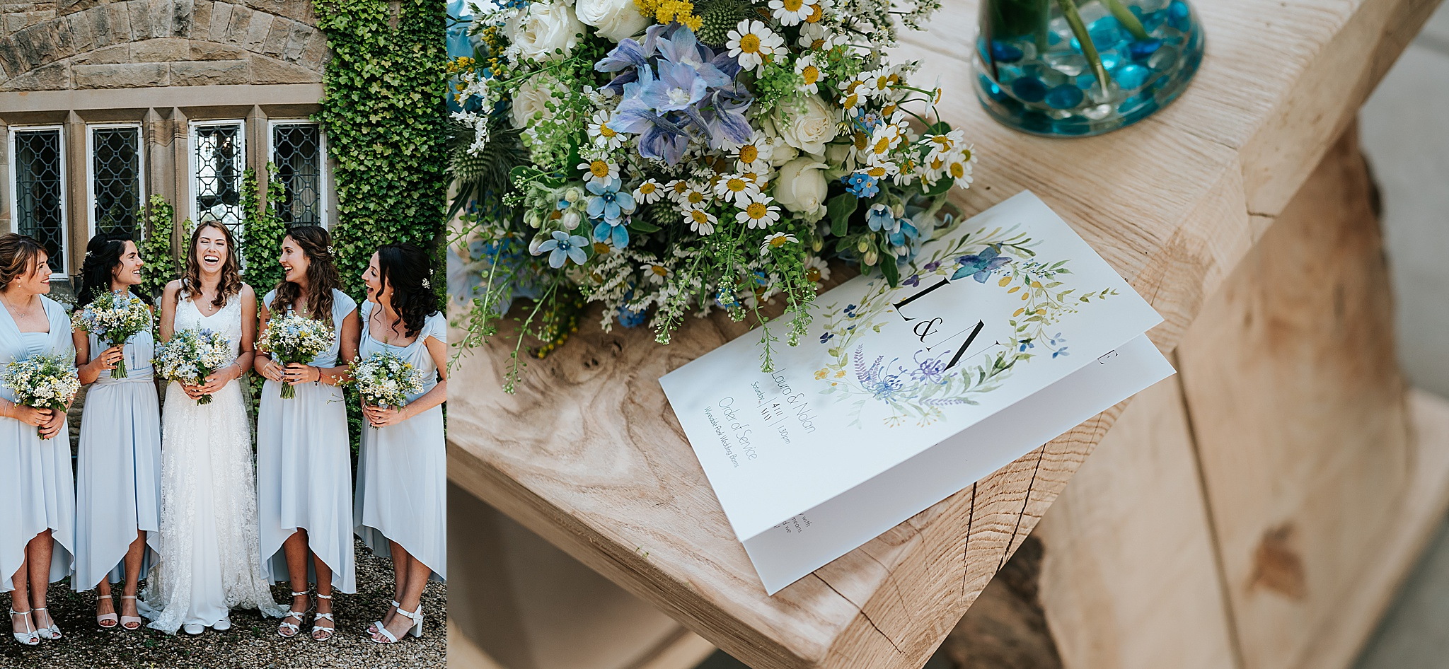 spring wedding at wyresdale park