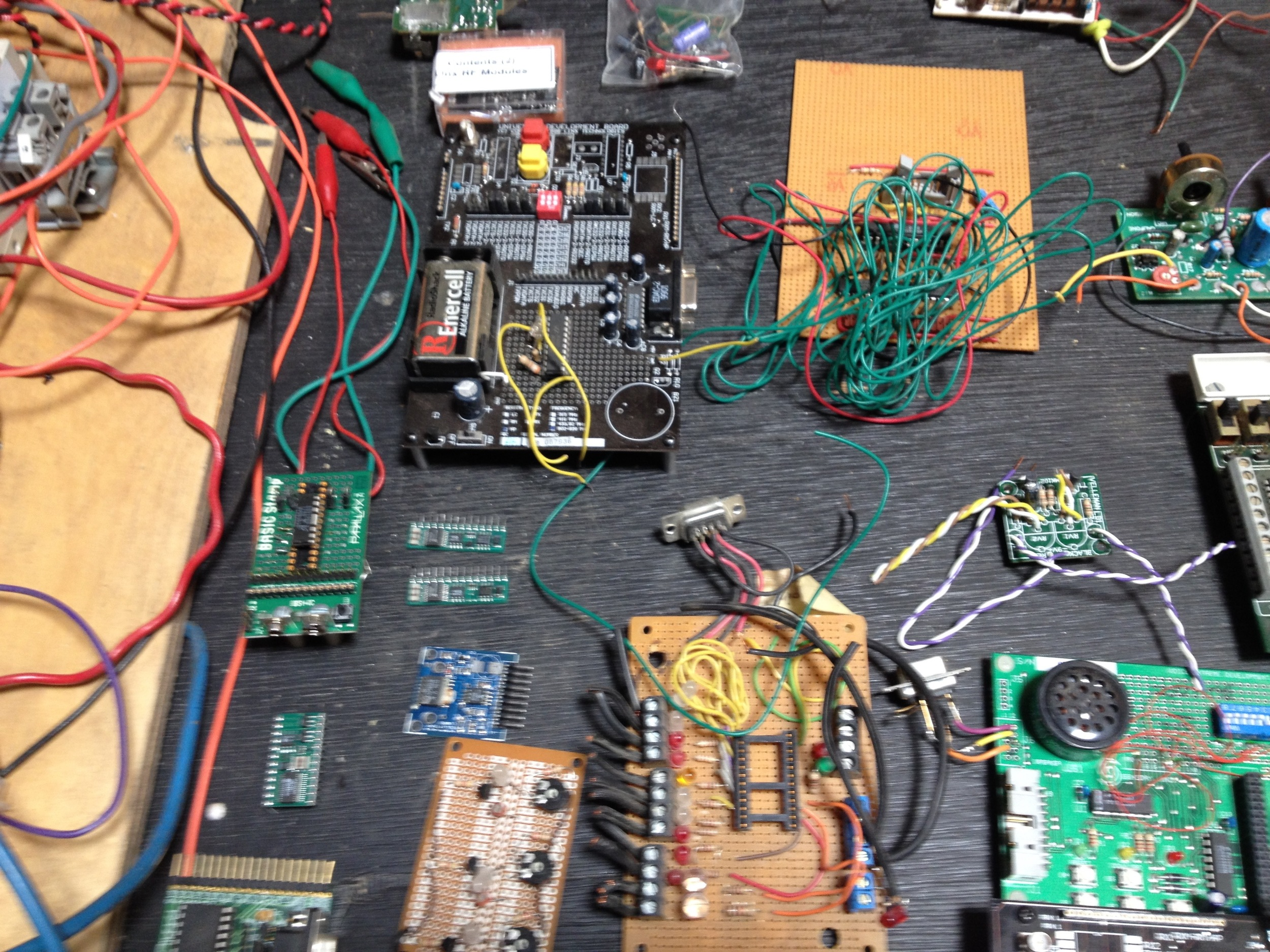 A collection of programmable micro controllers. radiorobot. 2015.