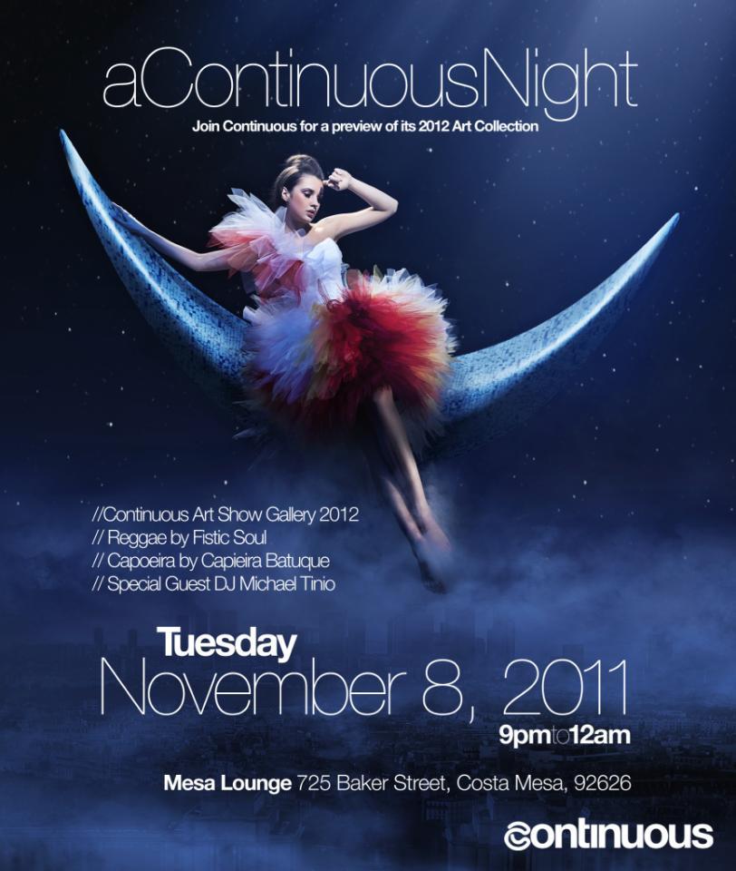 """Michael Tinio DJ set at """"A Continuous Night"""", Mesa Lounge in Costa Mesa. November 20, 2011."""