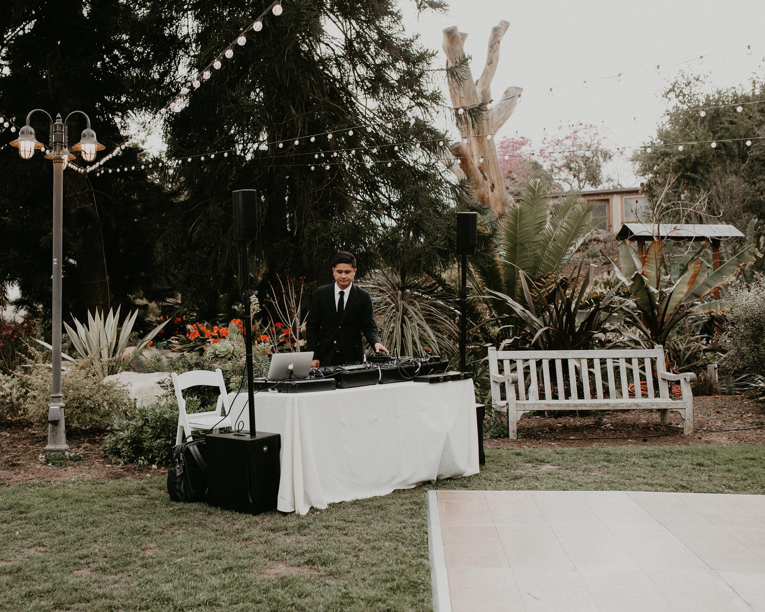 DJ at San Diego Botanic Garden