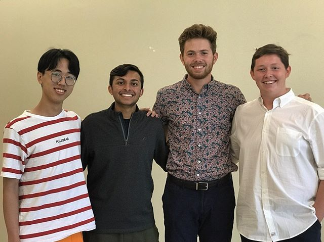 Everyone welcome our newest Melodores! Meet Alex, Akash, Jacob, and Will. We're so happy to have Generation XI killing it already!  New Officers:  President - Quinn McCarthy Vice President - William Schmid Treasurer - Daniel Williamson Musical Directors - Matt Zhang and Owen Ladd