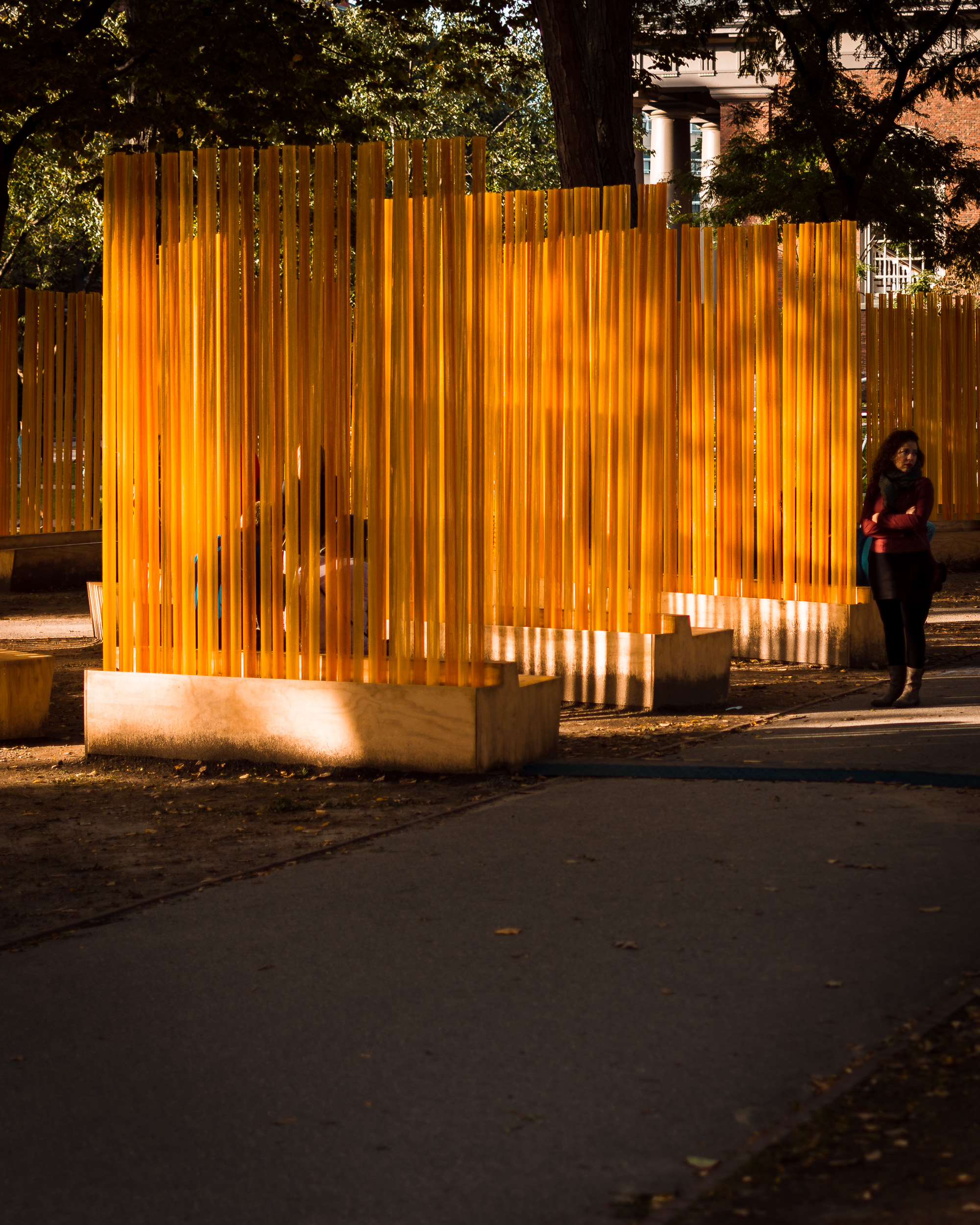 Autumn (... Nothing Personal) is a public sculpture by the artist Teresita Fernández