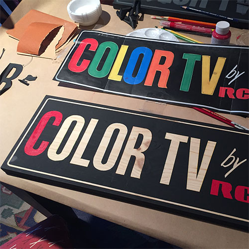 Color TV by RCA Motel Sign
