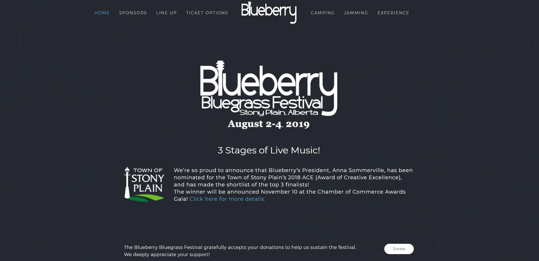 Blueberry Bluegrass Festival