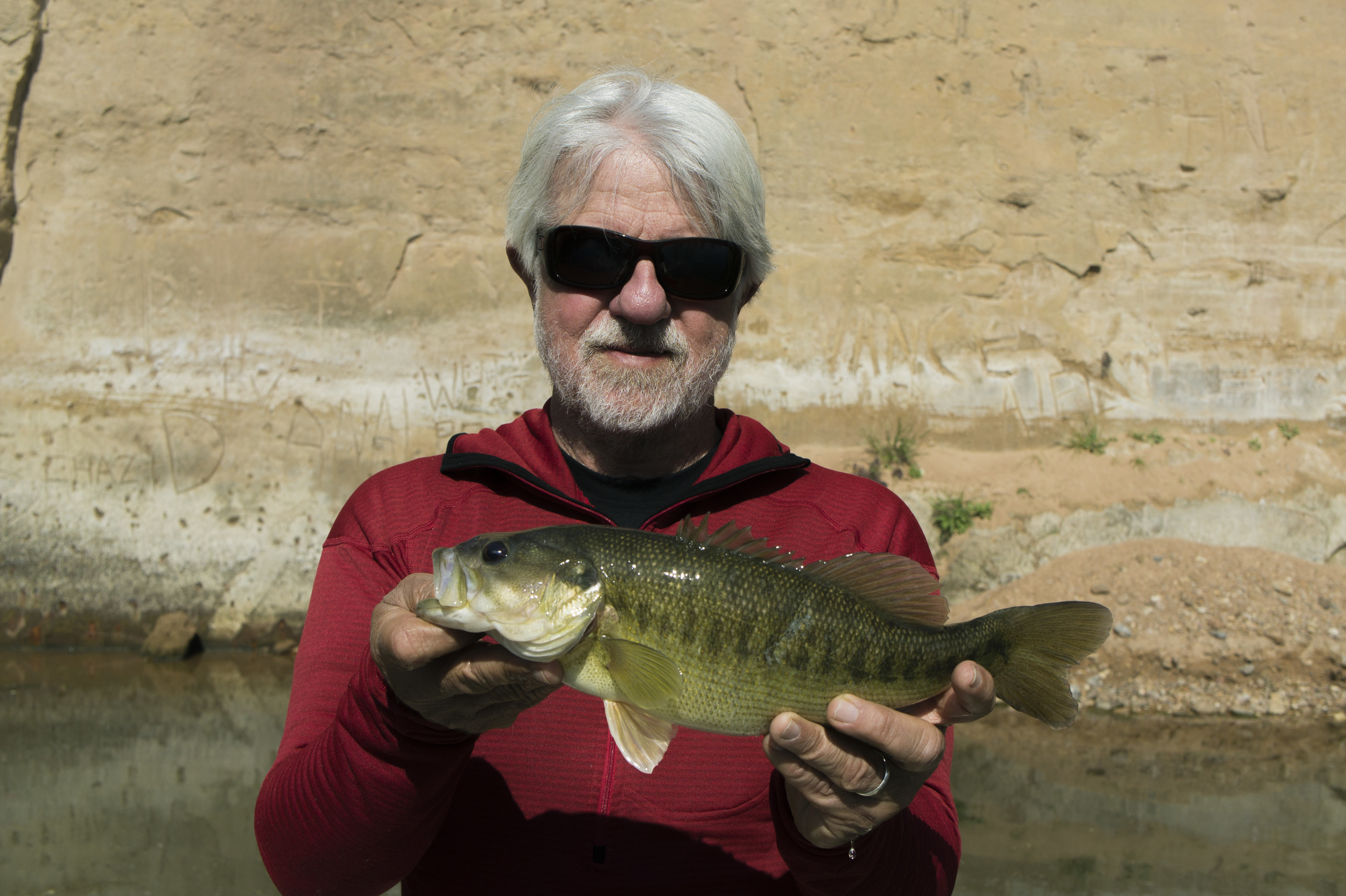 Mike Thompson with a nice Colorado River Guadalupe bass