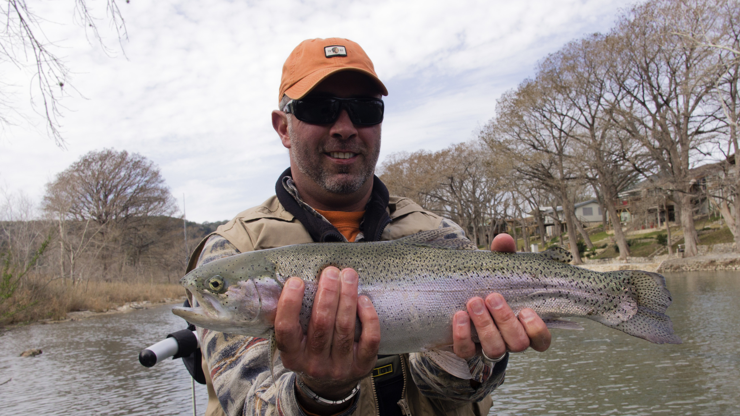 Bert Foster with a monster Guadalupe River Trout