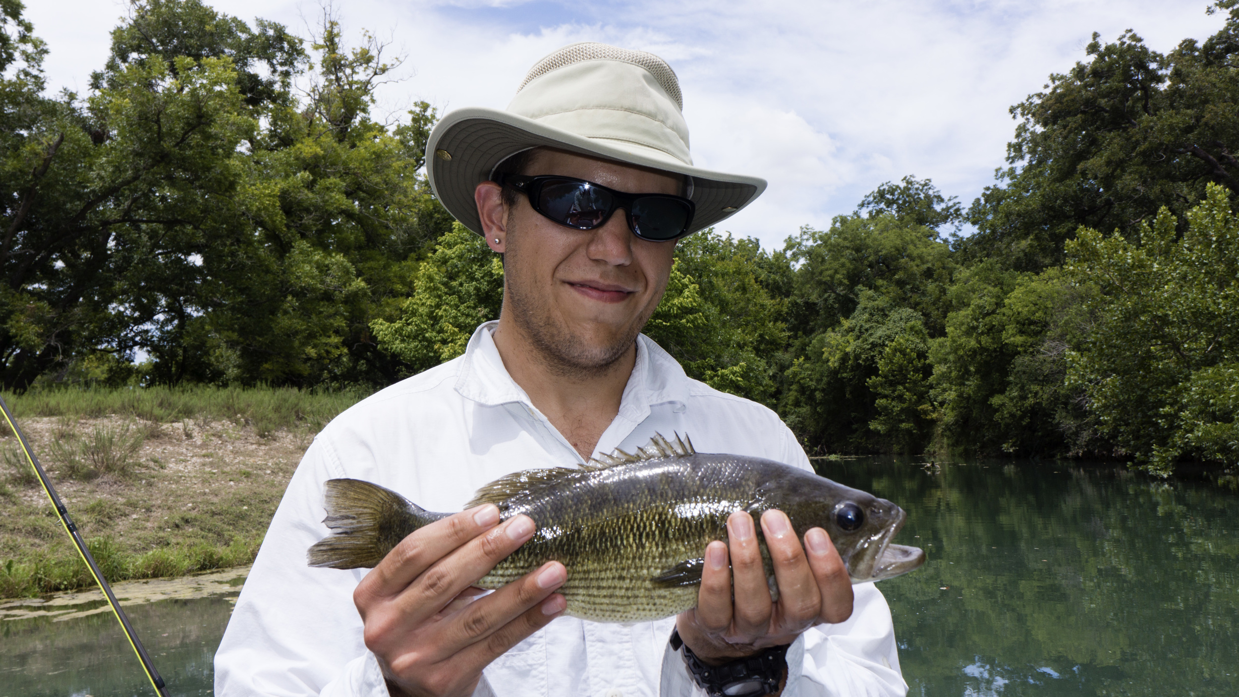 San Marcos River Guadalupe Bass