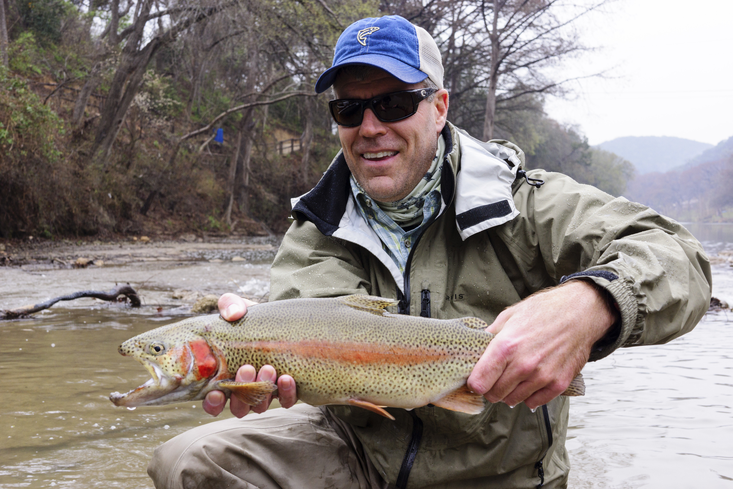 Huge Guadalupe River Rainbow Trout