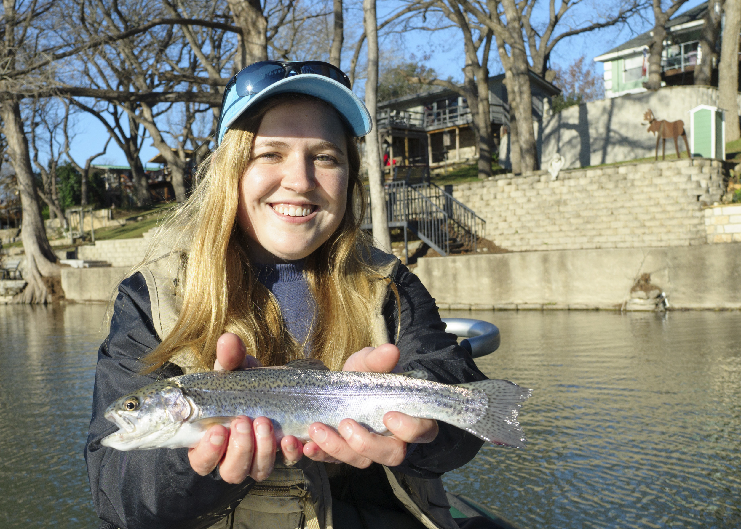 Allie with her first Guadalupe Trout