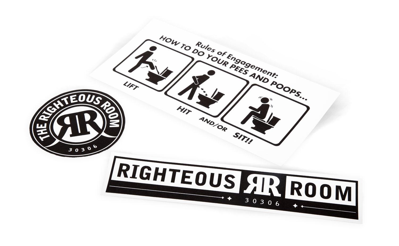 {  righteous room vinyl stickers  }   /   photographer: luke allerdice