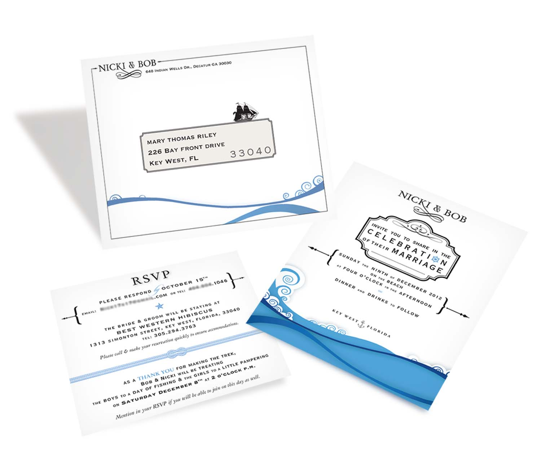 {  wedding invitation / travel information & envelope  } 4.5 x 5.5