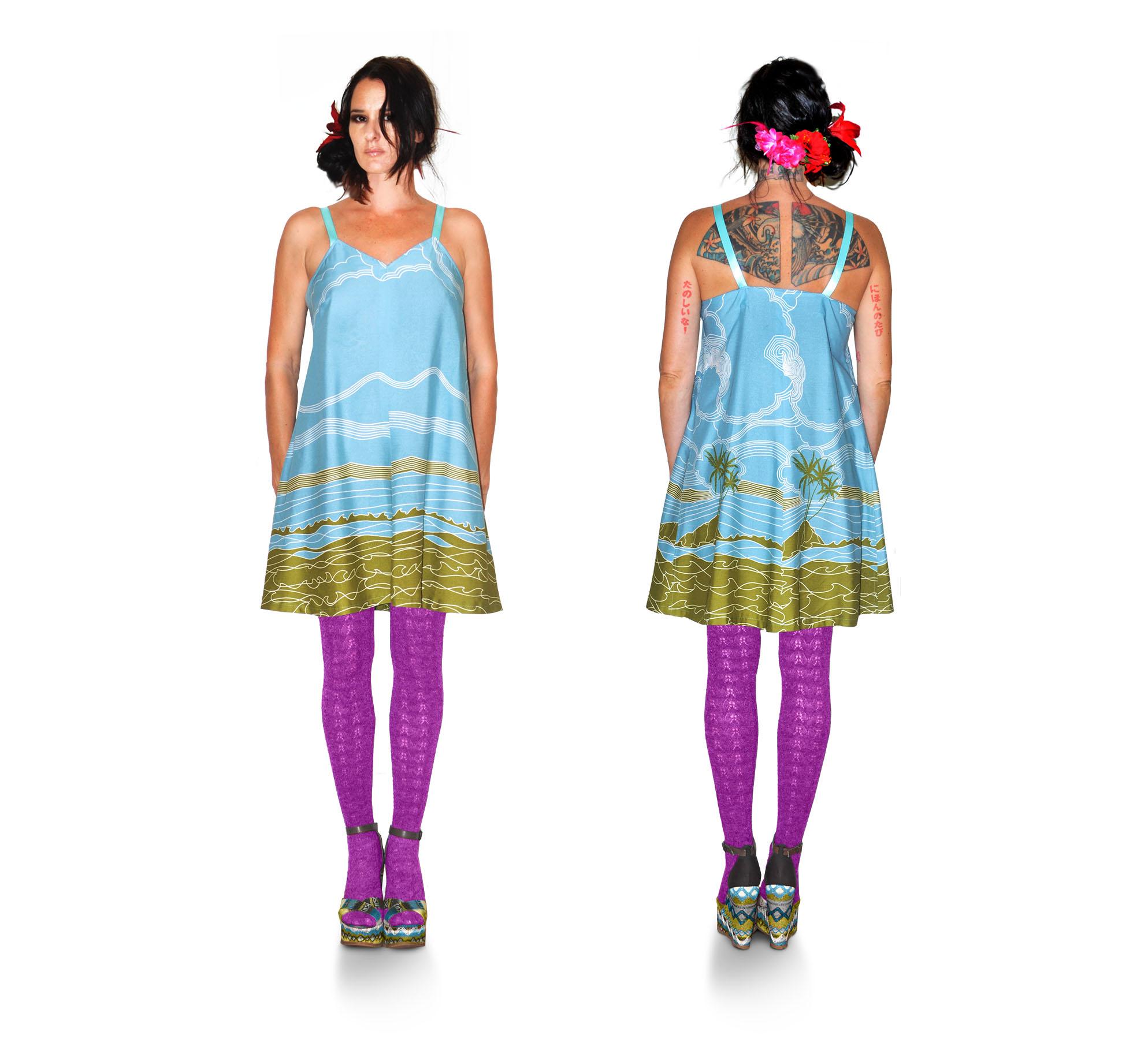 { sea foam tent dress } design + construction / 100% silk