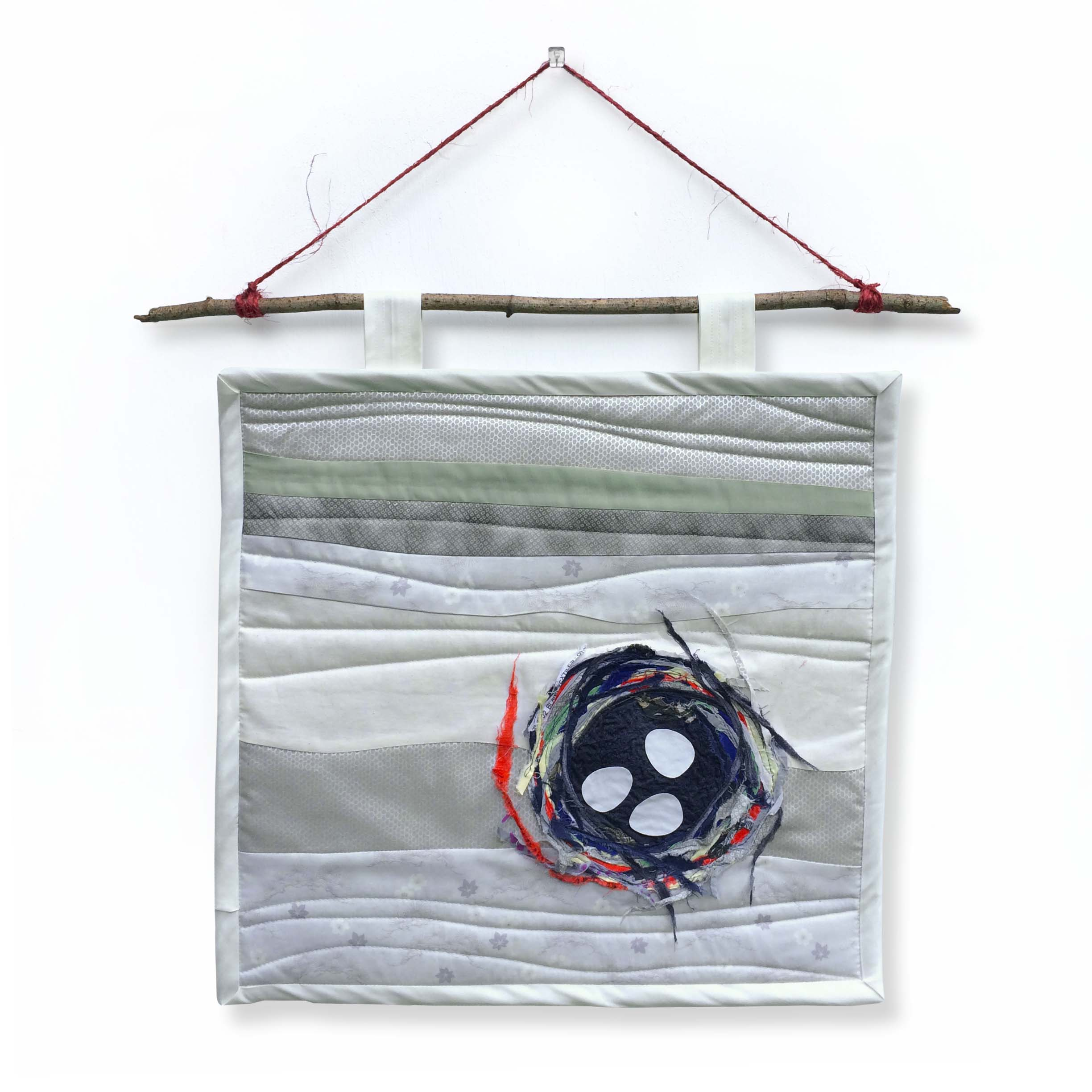 """{  nest wall hanging  }  24"""" x 24"""""""