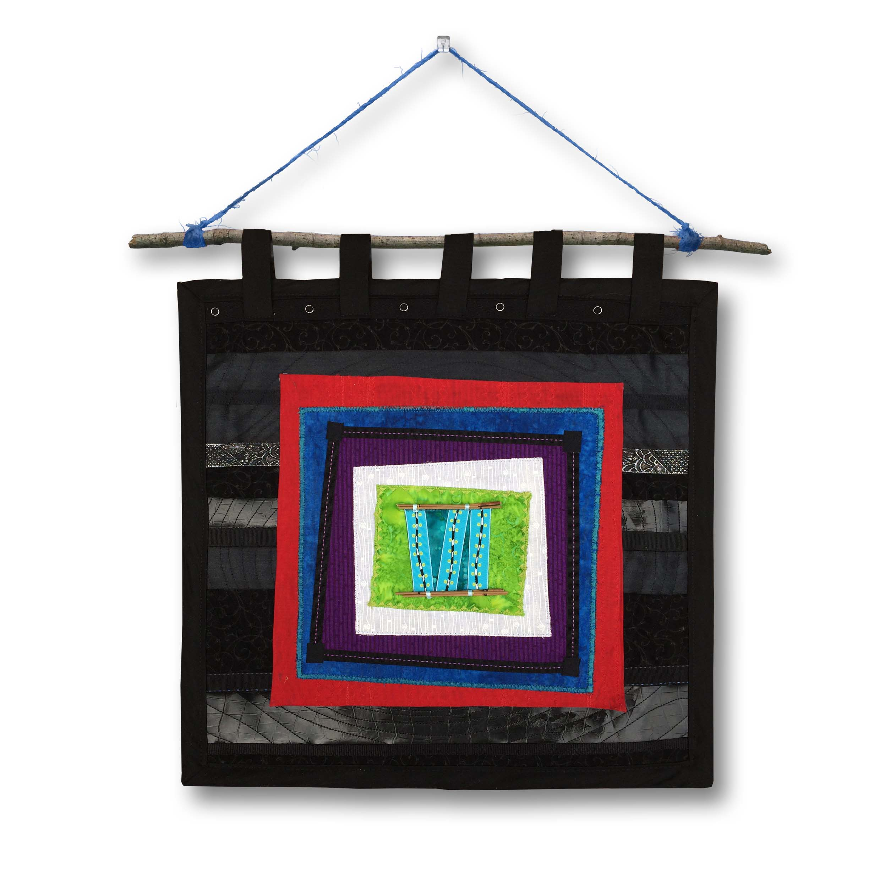 "{  quilt block birthstones wall hanging  }  24"" x 24"""