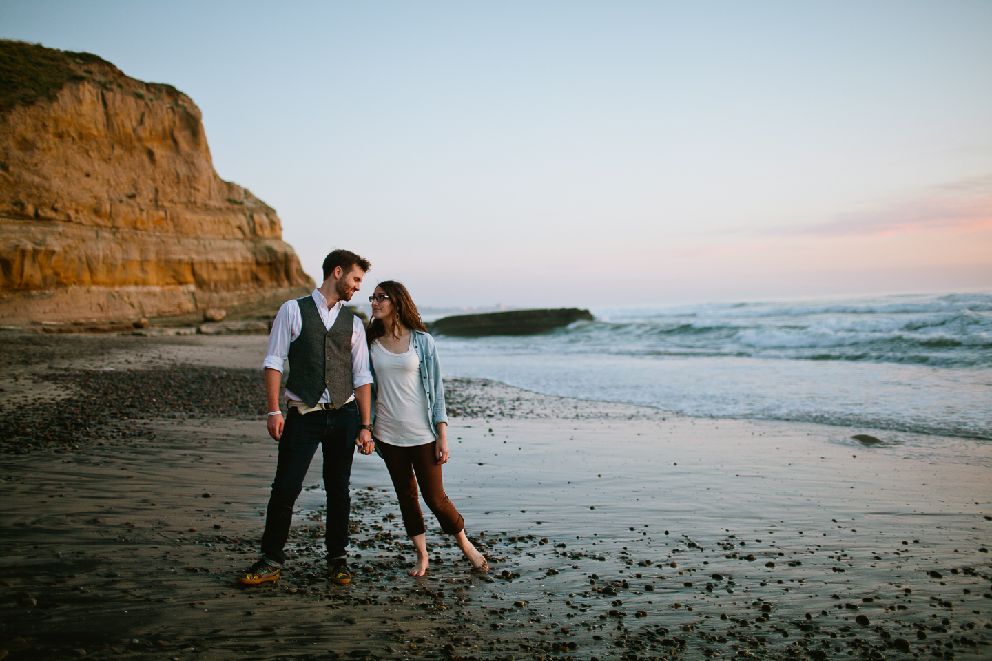 Torrey pines beach engagement